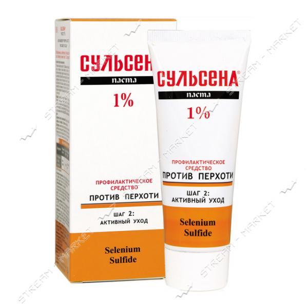 Сульсена Паста лечебно-профилактическая 1% против перхоти 75мл