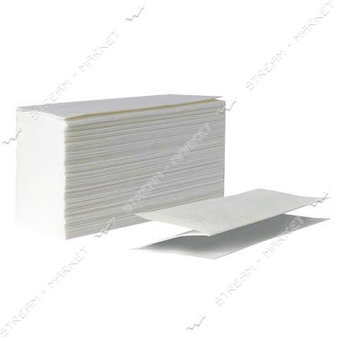 PROservice Полотенца бумажные листовые однослойные белые Standard Z-сложение 160шт