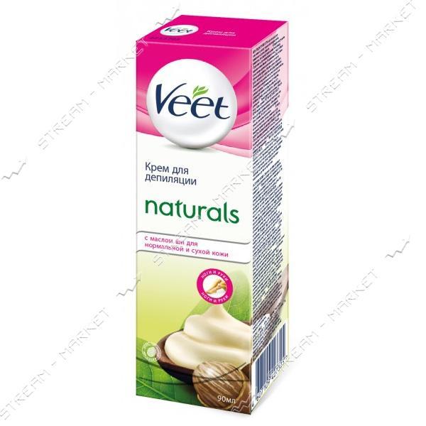 VEET Крем для депиляции Naturals с маслом Ши для нормальной и сухой кожи 90мл