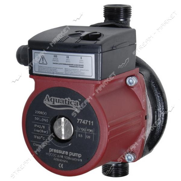 Насос для повыш. давления Aquatica 774711 120Вт Hmax 9м Qmax 30л/мин d 3/4' 160мм гайки d 1/2'