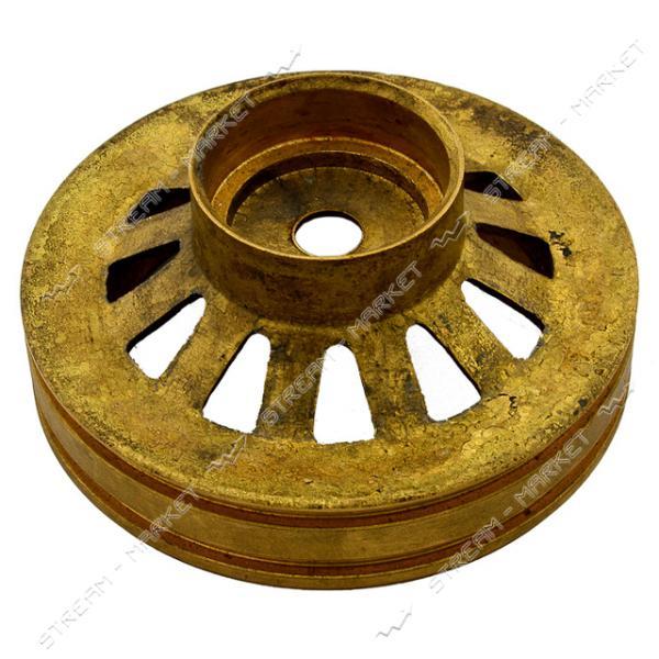 Крышка нижняя двигателя погружного насоса Водолей латунь
