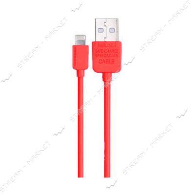 Remax кабель Safe Speed Data Cable Lightning, длина 1м, цвет красный
