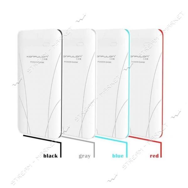 Konfulon портативное зарядное устройство Edge 2, 2USB, 10000mAh, цвета в ассортименте