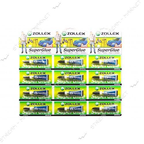 Zollex Супер клей SuperGlue 3г (12шт)