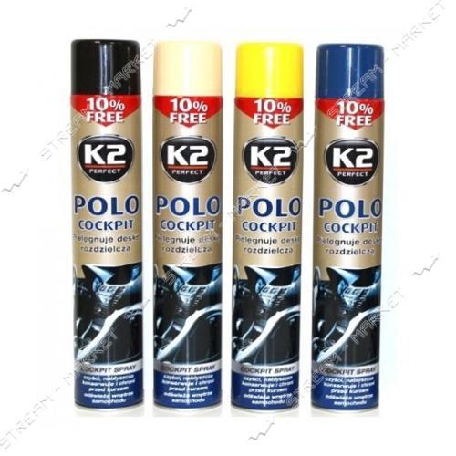 K2 K20125 Полироль торпеды 600мл POLP COCKPIT ваниль