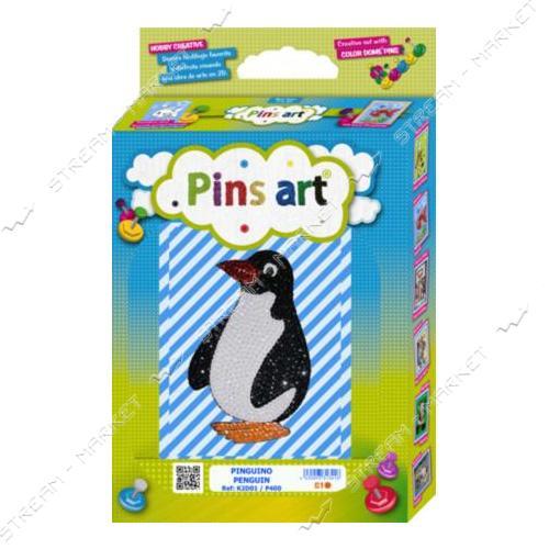 Набор для выкладки пайетками 'Pins Art' 01K2D 'Пингвин'