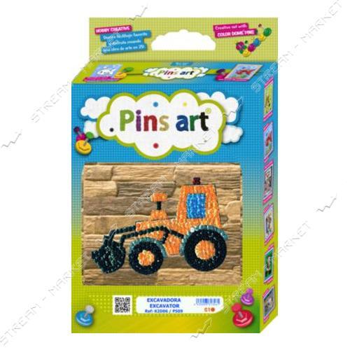 Набор для выкладки пайетками 'Pins Art' 06K2D 'Трактор'