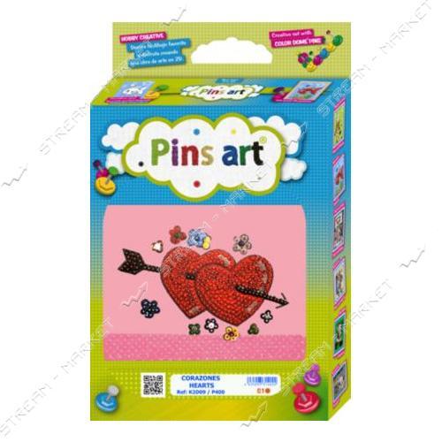 Набор для выкладки пайетками 'Pins Art' 09K2D 'Сердце'