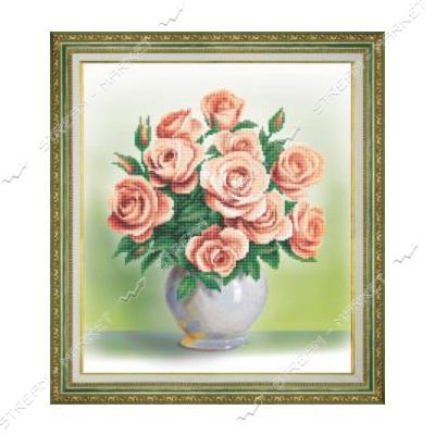 Набор для вышивки бисером Б-761 'Кремовые розы'