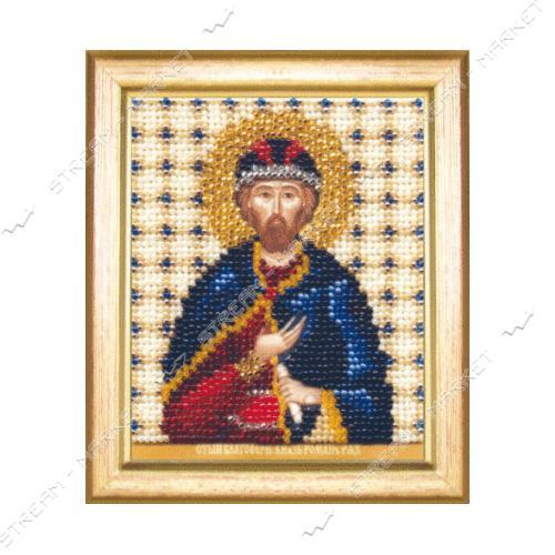 Набор для вышивки бисером Б-1166 'Икона святой благоверный князь Роман'