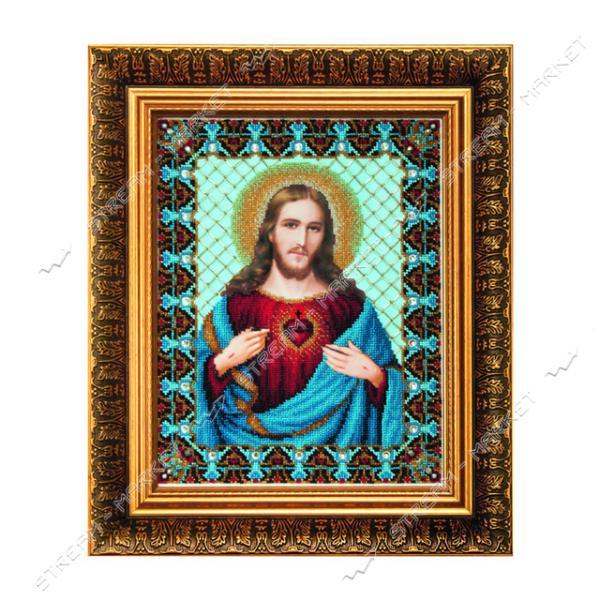 Набор для вышивки бисером Б-1231 'Пресвятое Сердце Иисуса'