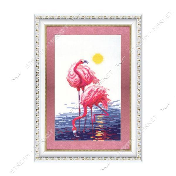 Набор для вышивания крестом 'Чарівна Мить' №151 'Розовые фламинго'