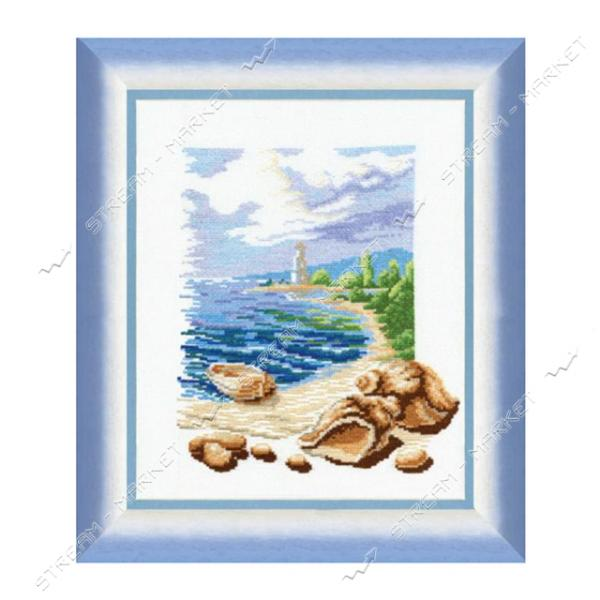 Набор для вышивания крестом 'Чарівна Мить' №211 ' Триптих У моря'