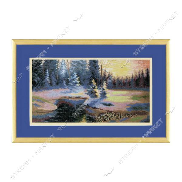 Набор для вышивания крестом 'Чарівна Мить' №529 'Зимний пейзаж'