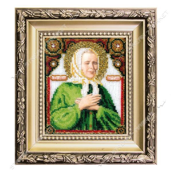 Набор для вышивки ювелирным бисером БЮ-009 'Икона святой блаженной Матроны Московской'