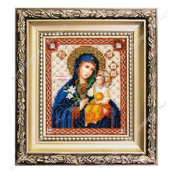 Набор для вышивки ювелирным бисером БЮ-012 'Икона Божьей Матери Неувядаемый цвет'