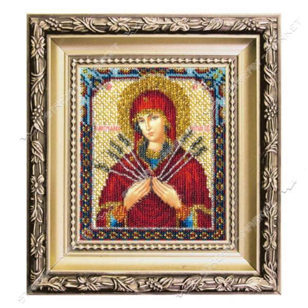 Набор для вышивки ювелирным бисером БЮ-013 'Икона Божьей Матери Семистрельная'