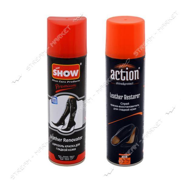 ACTION & SHOW аэрозоль краска для гладкой кожи черная 250мл