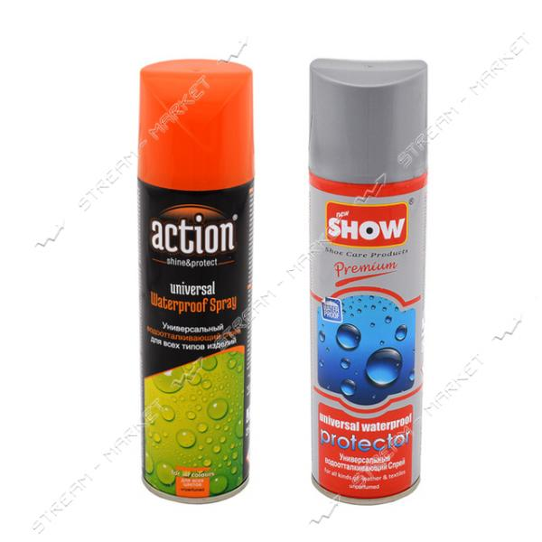 ACTION & SHOW водоотталкивающий спрей для всех типов кожи и текстиля черный 250мл