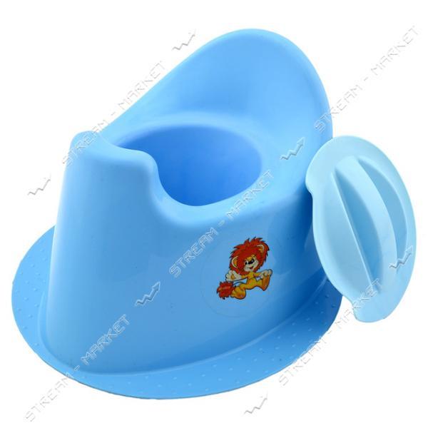 Горшок детский с крышкой Мультики цвета в ассорт.