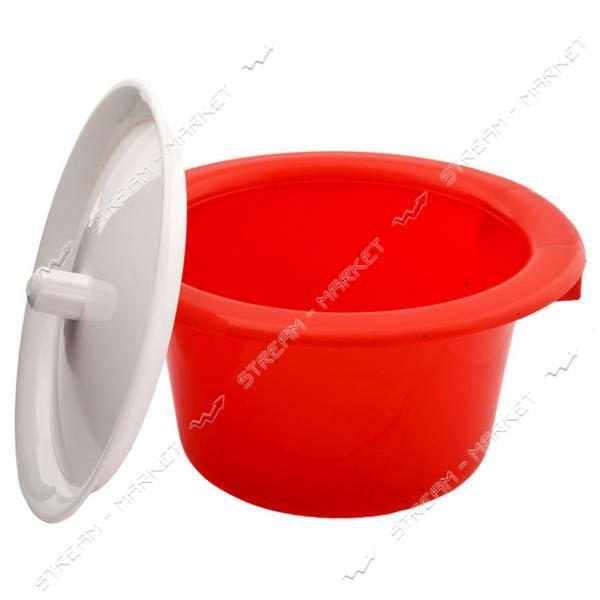 Горшок пластиковый детский с крышкой красный