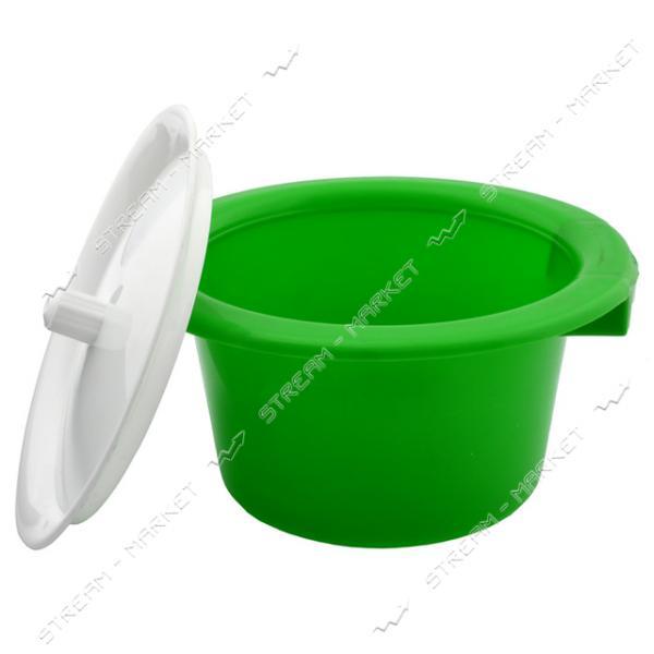 Горшок пластиковый детский с крышкой салатовый
