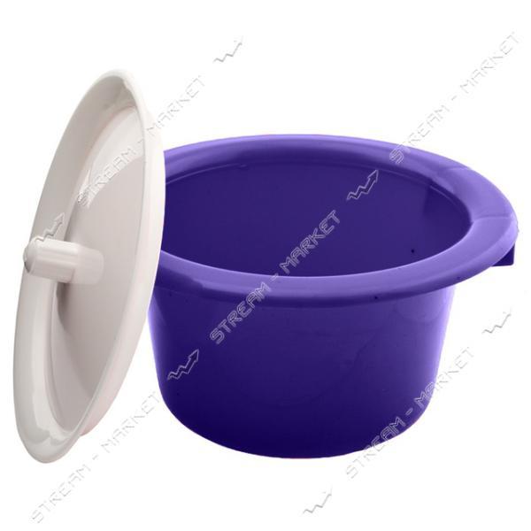 Горшок пластиковый детский с крышкой фиолетовый