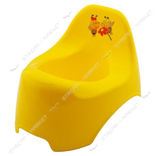 Горшок пластиковый детский уточка желтый