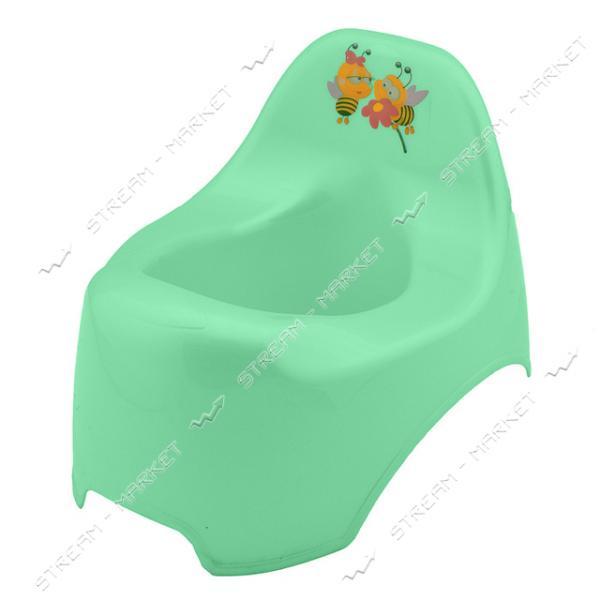 Горшок пластиковый детский уточка салатовый