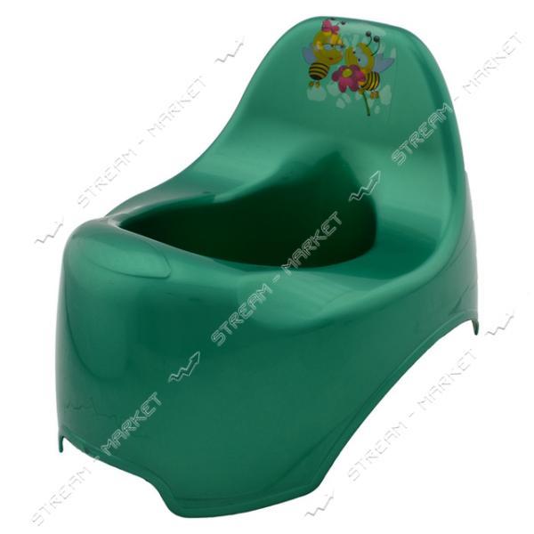 Горшок пластиковый детский уточка зеленый
