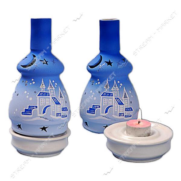 Подсвечник керамический Лампадка новогодняя