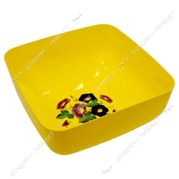 Миска квадратная для пищевых продуктов 4л цвета в ассорт.