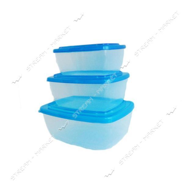 Набор судков для пищевых продуктов 3шт цвета в ассорт.