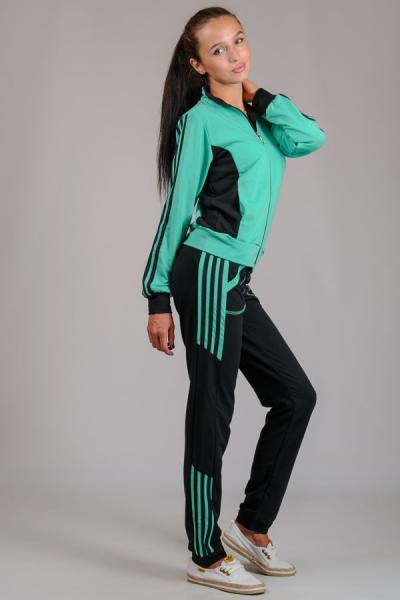 """Спортивный костюм """"Спорт, мята"""", """"Спорт, салатовый"""" р-р m  l   xl   xxl"""