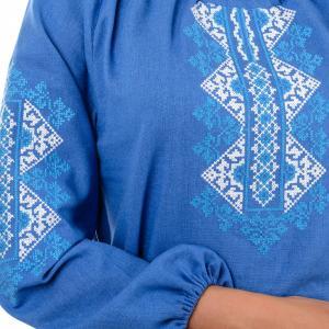 Фото Вышиванка женская Женская вышиванка, цветная, рукав 3\4  р-р 44, 46,48