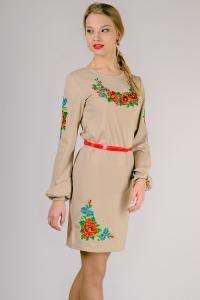 Фото Вышиванка женская Женское трикотажное платье, вышиванка Размеры: M,L,XL,XXL