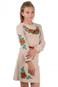Вышиванка для девочки , платье,  Размеры: 40 р (рост 146),42 р (рост 152)