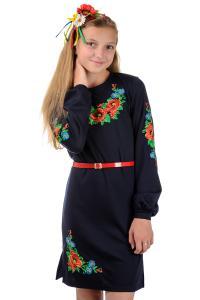 Фото Вышиванка детская (девочки и мальчики) Вышиванка для девочки , платье,  Размеры: 40 р (рост 146),42 р (рост 152)