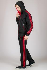 Фото Мужские спортивные костюмы  Спортивный костюм классический , СИНИЙ, КРАСНЫЙ  р-р  M  L  XL  XXL