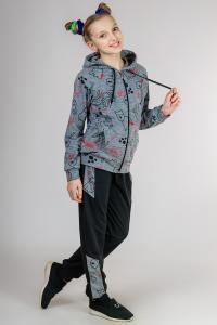 Фото Детские спортивные костюмы, штаны спортивные Спортивный костюм Кошки для девочек, р-р 32, 34, 36, 38, 40 ,42