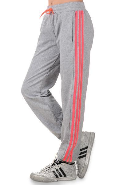 Спортивные штаны на девочку с яркими лампасами, р-р 36-42
