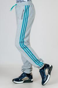 Фото Детские спортивные костюмы, штаны спортивные Спортивные штаны на девочку с яркими лампасами, р-р 36-42