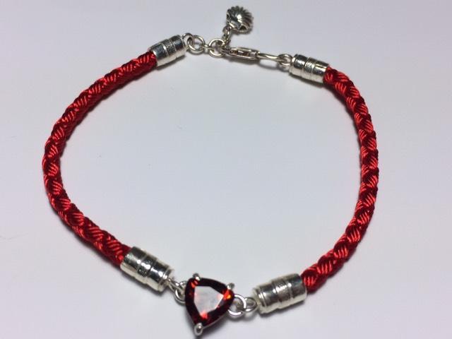 Фото Нет в наличии, Шёлковый браслет с серебряными вставками Шёлковый браслет с серебряными вставками
