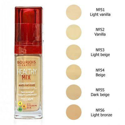 Тональный крем Bourjois Healthy Mix №56 Светлая Бронза