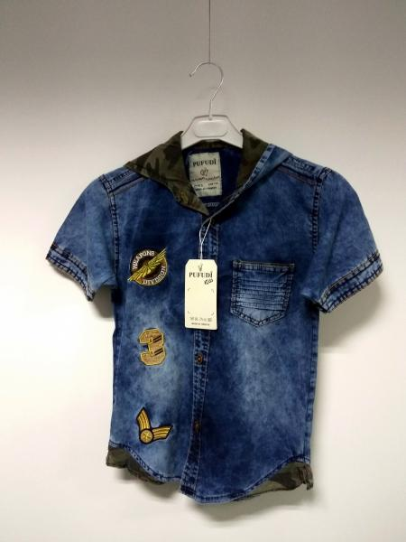Джинсова сорочка з капішоном SVK PUFUD