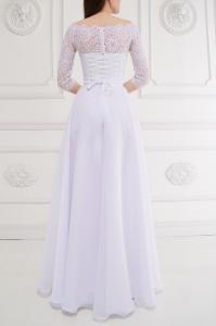 Фото Свадебные платья Непышное свадебное платье с легкой юбкой Дива