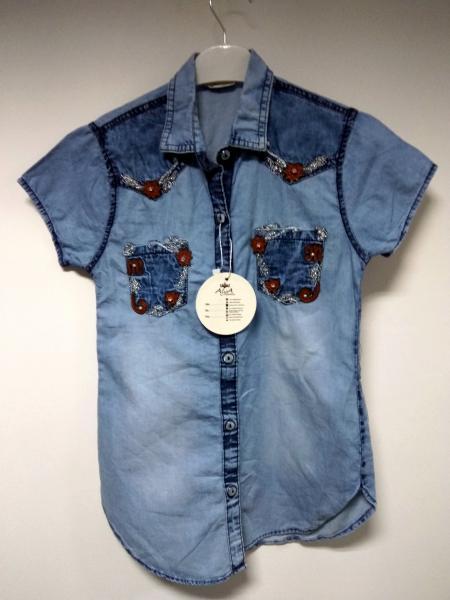Сорочка джинсова Aliya зірочка