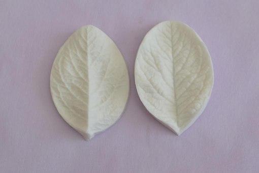 """Вайнер силиконовый """"Лист розы малый"""" 4,1 см 6,5 см"""