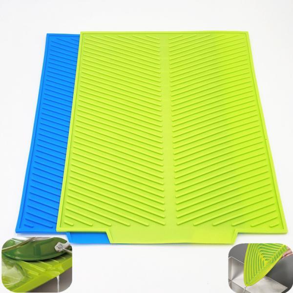 Силиконовый коврик для сушки посуды 25 см 39 см