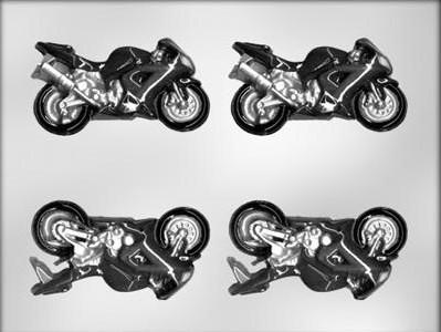 "Молд пластиковый для шоколада ""Мотоциклы"" 3D"